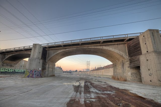 The L.A. River: home to countless lame '80s MTV videos that would rip off The Road Warrior.