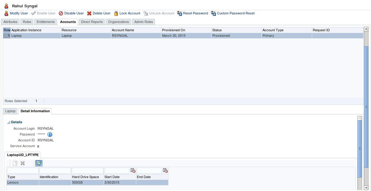 Oracle Stack: OIM API: Entitlements