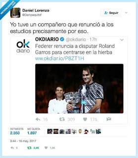 Federer renuncia a disputar Roland Garros para centrarse en la hierba