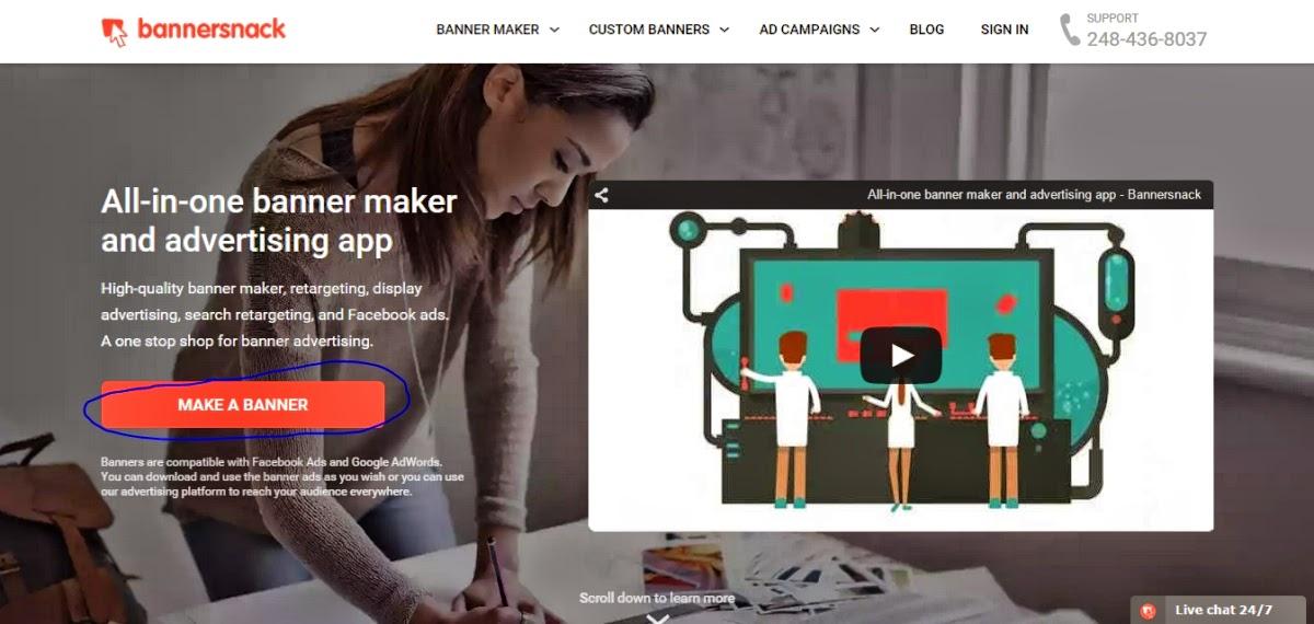 افضل المواقع لإنشاء بنرات اعلانية