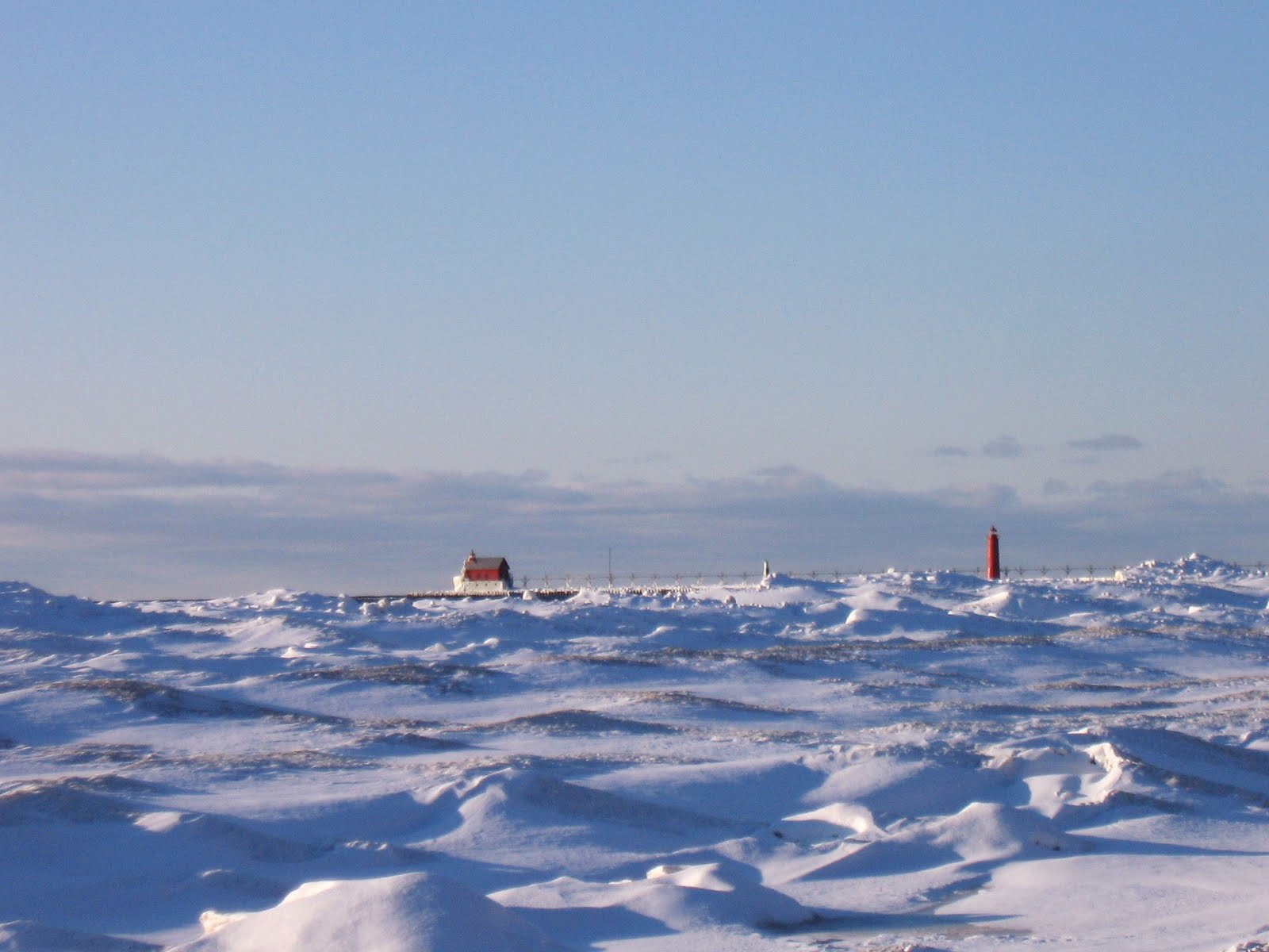 Dynamic Great Lakes: Grand Haven Pier in Winter