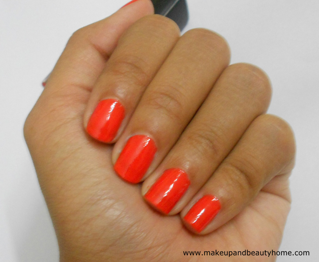 Avon Nailwear Pro Nail Enamel Coral Beat Review Swatches And Notd