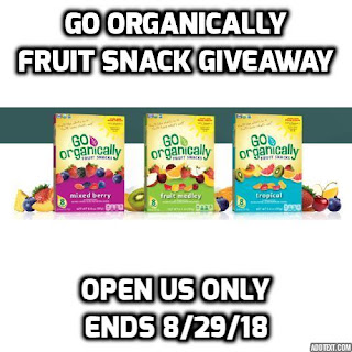 Enter the Go Organically Fruit Snack Giveaway. Ends 8/29. Open US Only