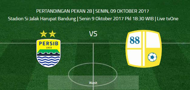 Prediksi Persib Bandung vs Barito Putera - Senin 9 Oktober 2017