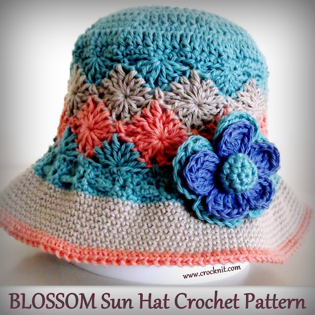 crochet patterns, how to crochet, sun hats, brimmed hats, summer hats, baby hats,