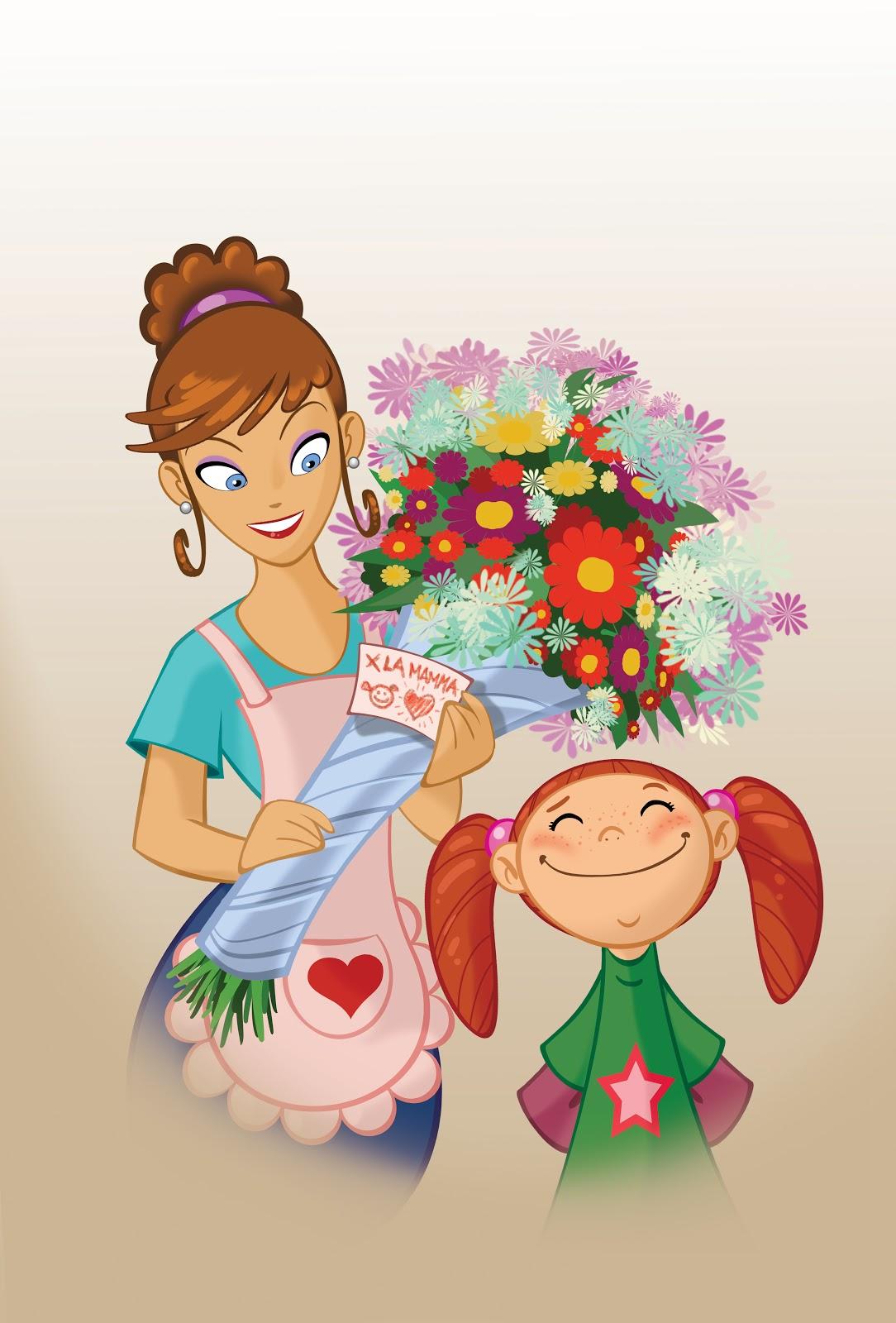 Frame illustrazione floreale