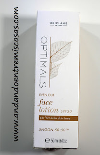 Loción facial antimanchas