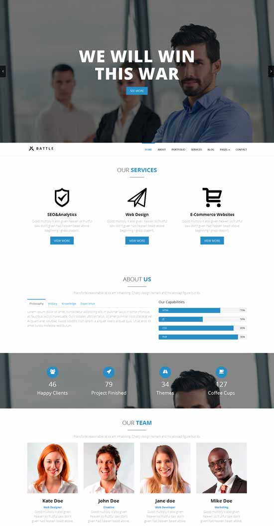 Best business consulting website templates free premium 2016 battle consulting html5 responsive template pronofoot35fo Choice Image