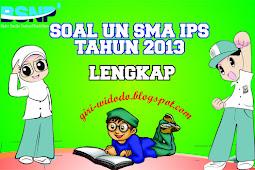 Download Soal UN SMA 2013 Jurusan IPS All Mapel