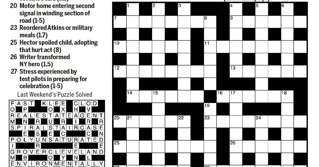 National Post Cryptic Crossword Forum Saturday January 26 2019 Single And Isolated