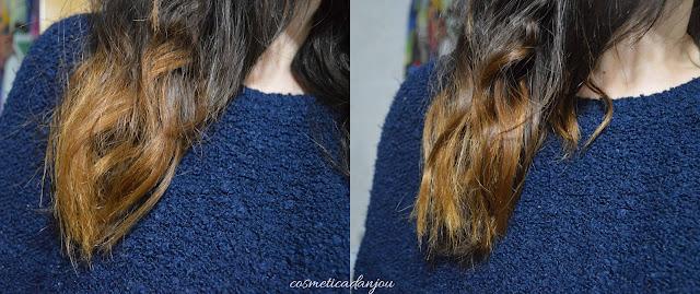 Innisfree My Hair Recipe Repairing Oil Serum before after