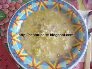 Minestra di riso con patate e verza