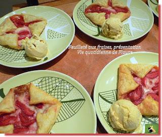 Vie quotidienne de FLaure : Feuilleté aux fraises