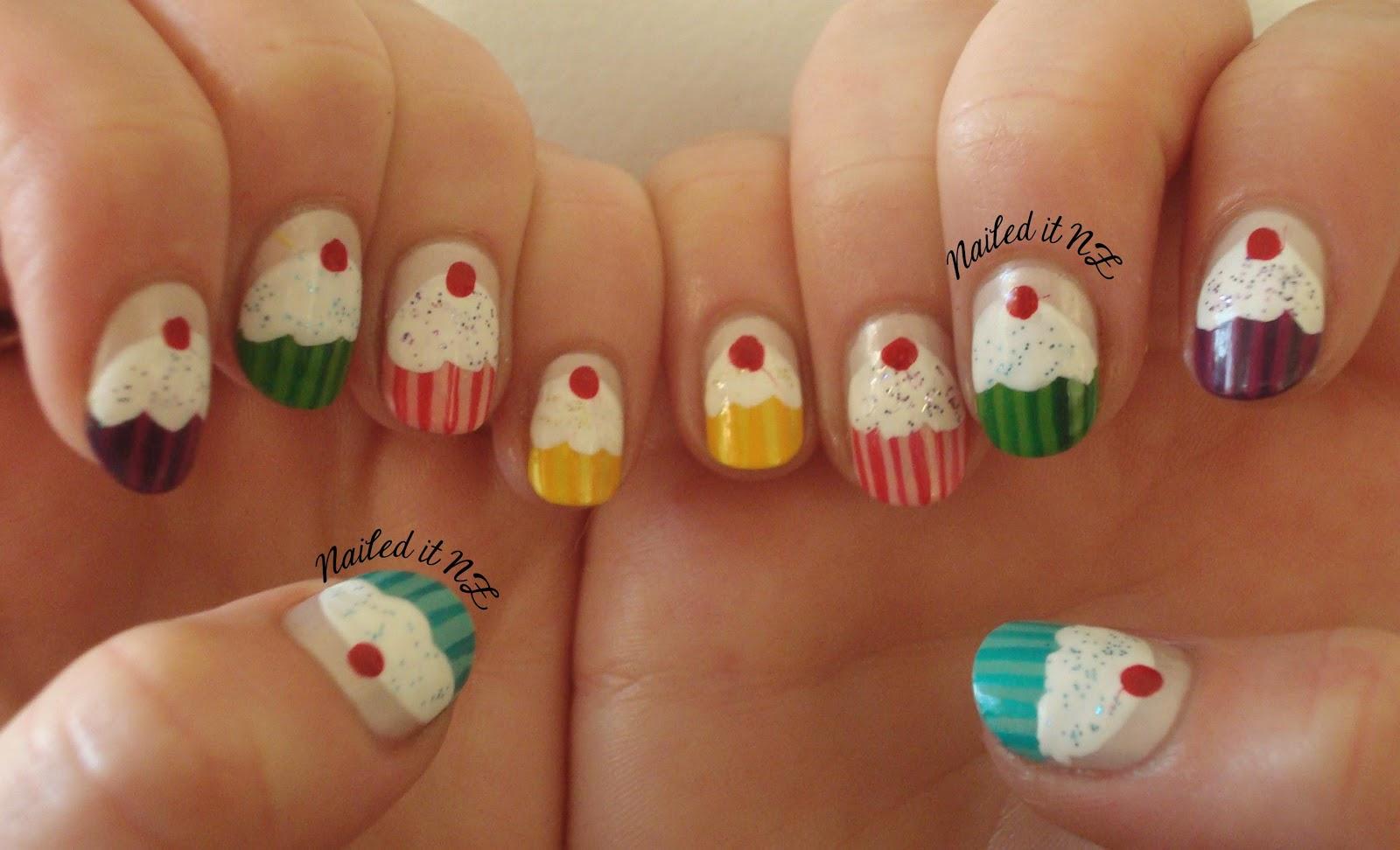 Nail art for short nails 6 cupcake nails - Easy nail designs for short nails at home ...