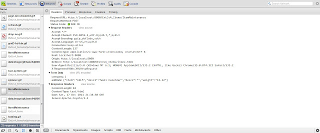 ExtJs 4 MVC Architecture tutorial using Java Servlets