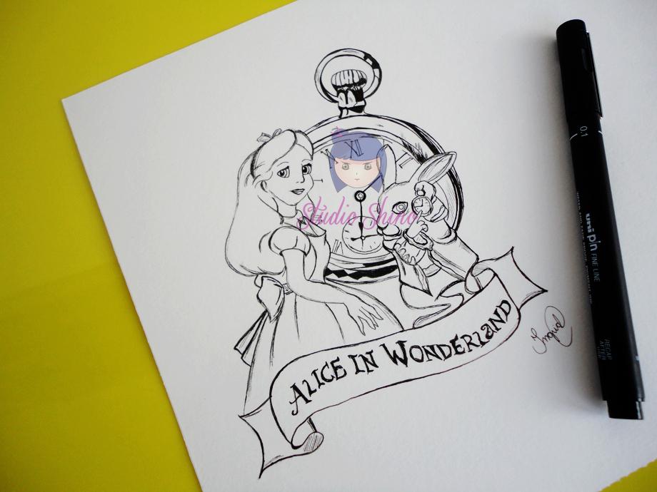 Ilustração Alice no país das maravilhas