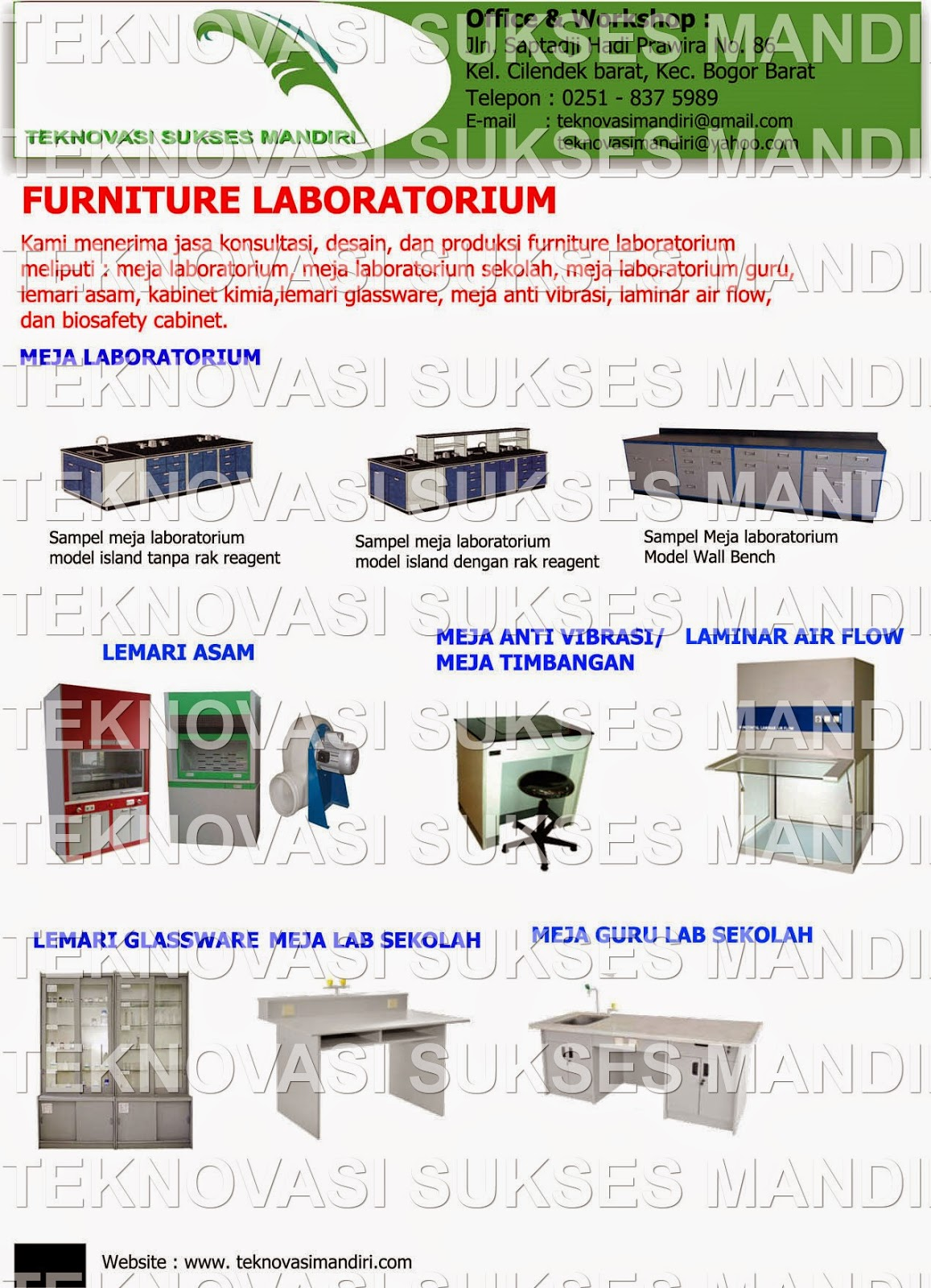 jual furniture laboratorium