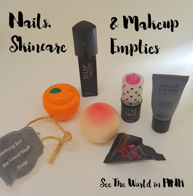March 2016 - Monthly Empties (with mini reviews)
