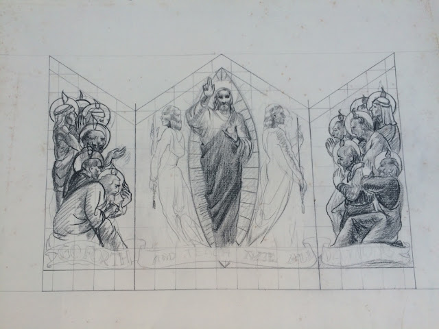 Francis J. Quirk image of Sketch of Christ and the Apostles for a mural or triptych