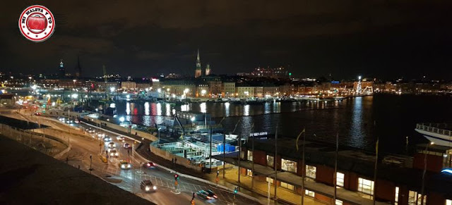 Vistas desde Fjällgatan, Estocolmo, Suecia