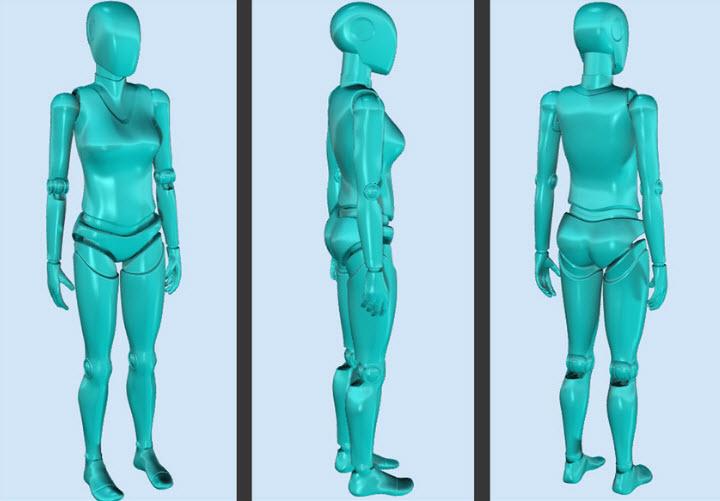 Lisa Dummy/human model 3d free downloads cad flie