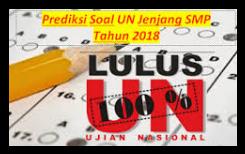 Prediksi soal UN SMP 2018