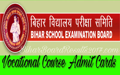Bseb 12th Vocational Course admit cards 2017