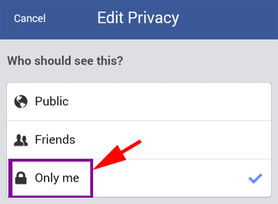 Hide Facebook Friends List in mobile