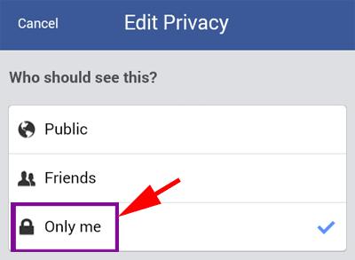 Hide Facebook Friends List in mobile
