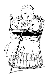baby download rattle vintage illustration