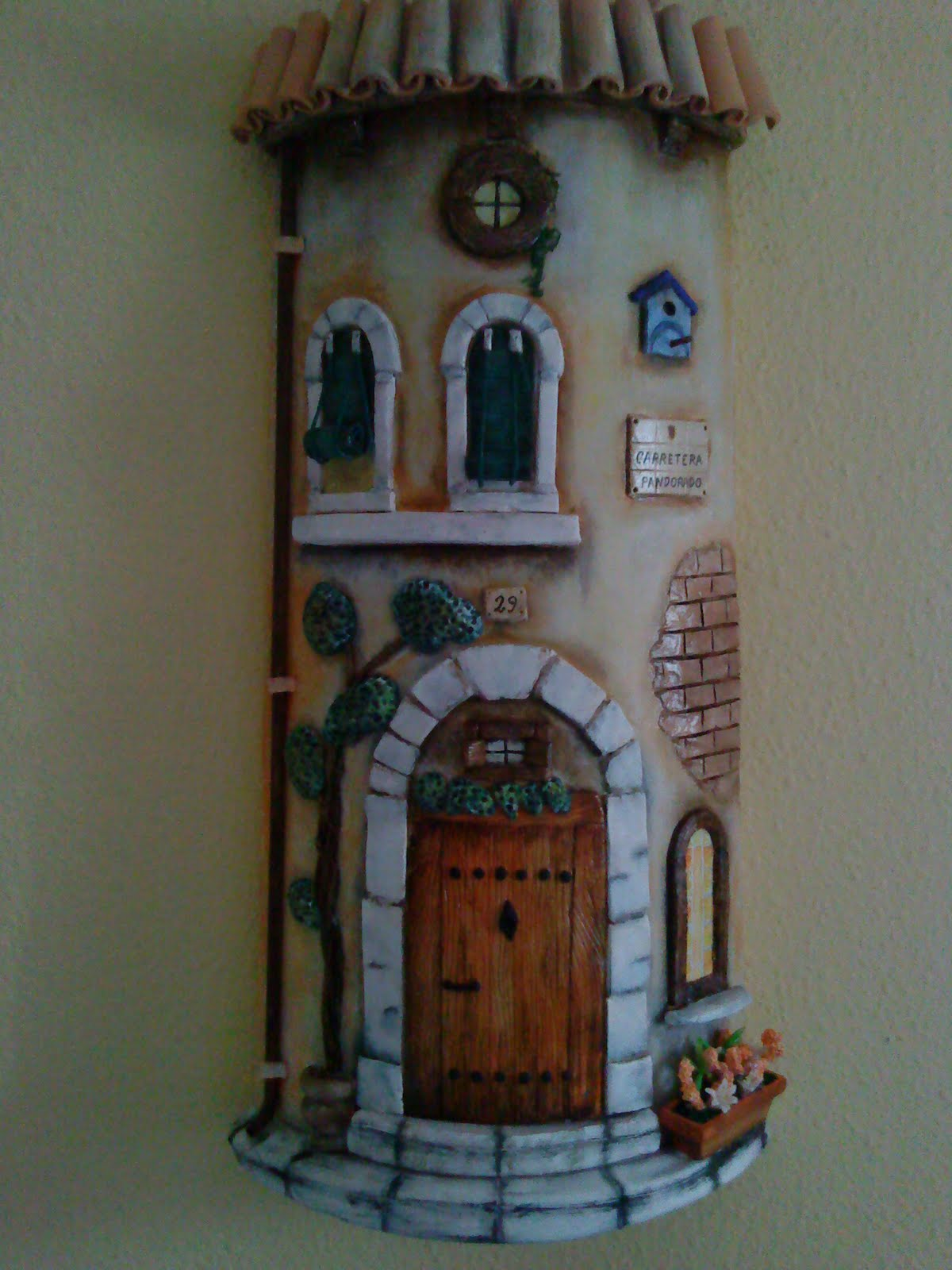 Tejas Decoradas En Relieve Ecopinturas Fernandez Tejas Decorativas