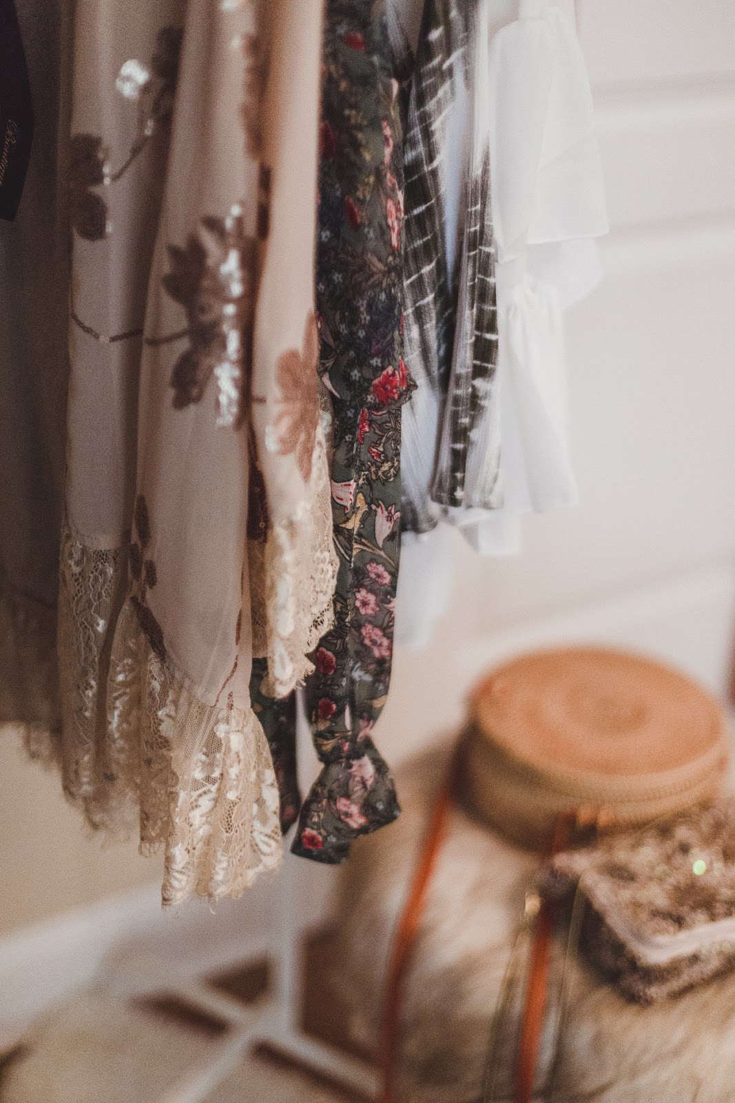 free people embellished slip dress, ruffle blouse, peasant blouse, free people outfit, spring treneds, xo samantha brooke, life and messy hair
