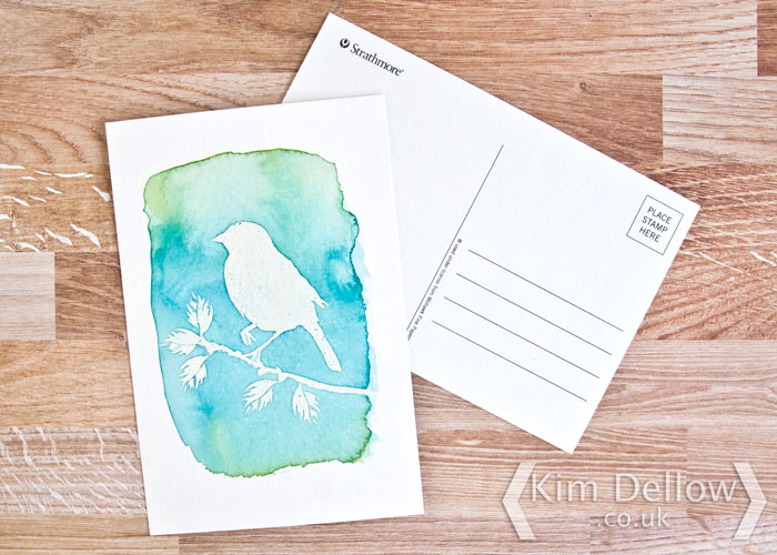 Kim Dellow Watercolour postcard tutorial