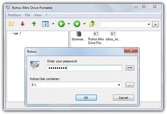 Rohos Mini Drive - Software Untuk Lindungi Data Pada Flashdisk USB Drive Anda