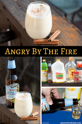 Angry orchard, fireball and heavy cream make this cocktail the perfect holiday cocktail.