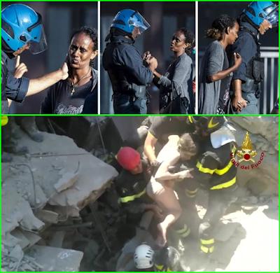 Salvataggio Ciro e Poliziotto che consola