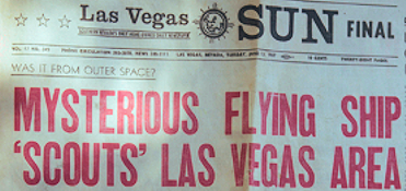 Mysterious Flying Ship 'Scouts' Las Vegas Area