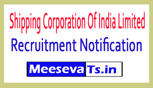 Shipping Corporation Of India Limited SCI Recruitment