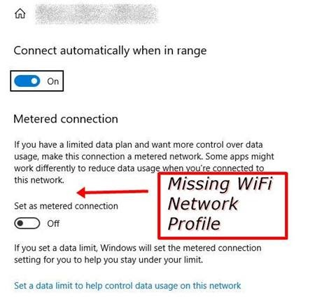 Windows 10 public private wifi options missing