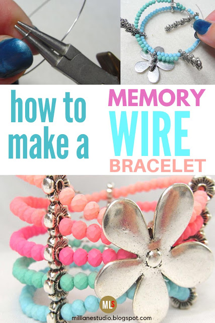 How to make a memory wire bracelet inspiration sheet.