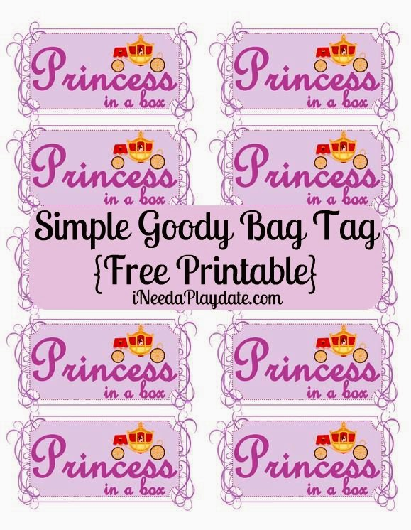 Printable Princess in a Box Label | iNeed a Playdate