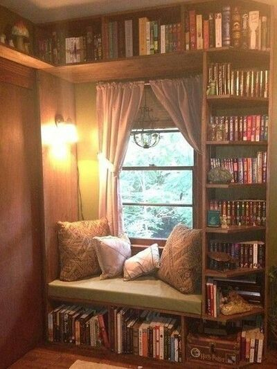 Vertical Library By Window - Image: Pinterest Community