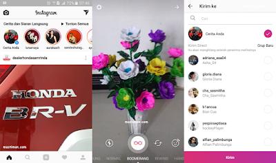 Cara membuat gambar bergerak di Instagram menggunakan BOOMERANG