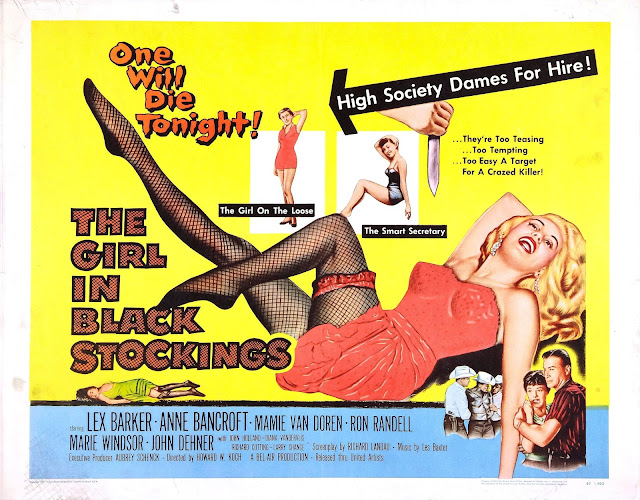 The Girl in Black Stockings movieloversreviews.filminspector.com 1957 poster