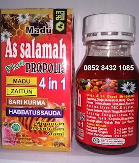 Jual madu propolis 4 in1 as salamah cv abu herbal harga grosir eceran
