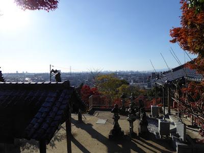 野崎観音境内からの眺め 大阪平野