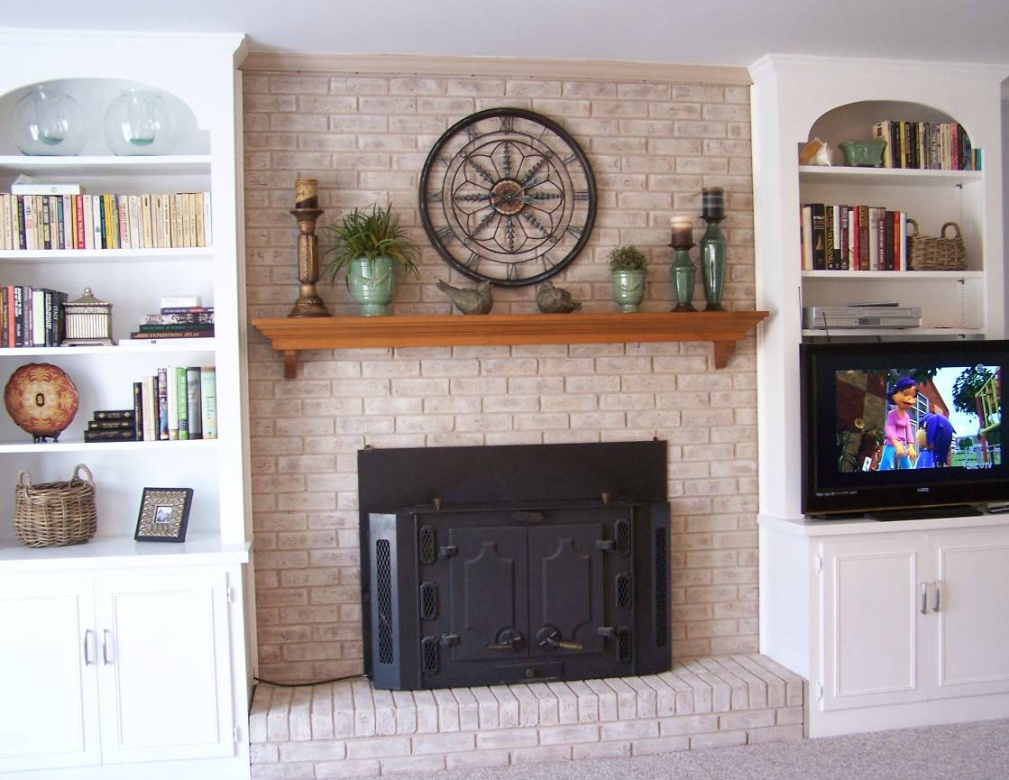 Fireplace mantel shelves asian style