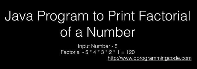 Java Program to Print Factorial of a Number