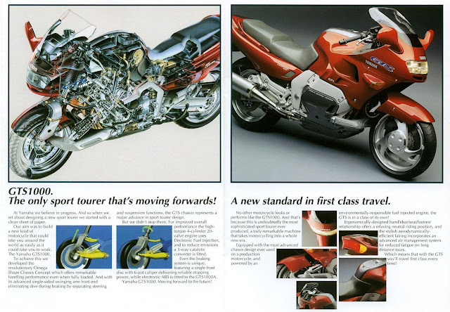 Yamaha GTS 1000 Motorcycle Brochure