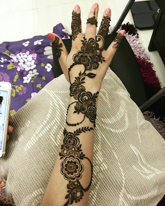24 Latest Arabic Mehndi Designs for Full Hands || Intricate and